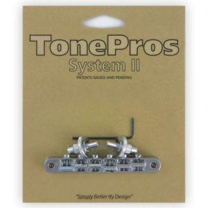 TonePros Tune-O-Matic Bridge, AVR2 with Nashville Post (Chrome)