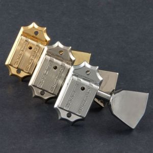 TonePros Tuners Kluson 3 + 3, Metal Button, Bolt Bushing (Gold)