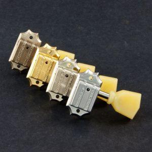 TonePros Tuners Kluson 3 + 3, Drop in, Keystone button (Gold)