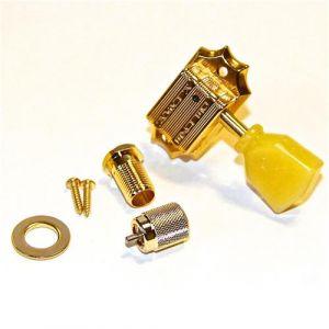 TonePros Tuners Kluson 3 + 3, Bolt bushing locking (Gold)