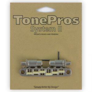TonePros Tune-O-Matic Bridge Metric, Large Posts and Notched Saddles,