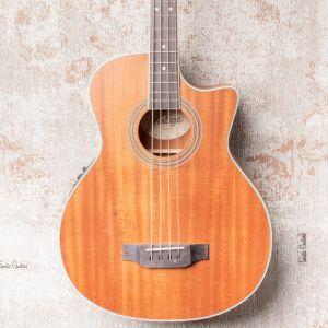 Vintage VCB430MH Electro Acoustic Bass - Mahogany Open Pore B-Stock