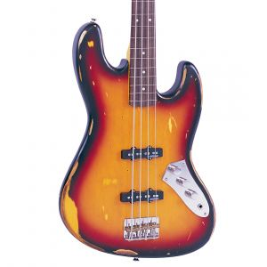 Vintage ICON V74MR Fretless Bass - Sunset Sunburst